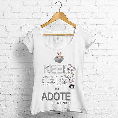 BL Keep calm and adote um cãozinho