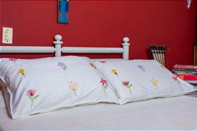 Conjunto de capa para travesseiro florada PRODUTO SOB ENCOMENDA