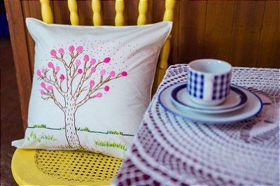Almofada ipê rosa árvore
