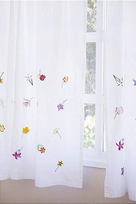 Cortina Florada, 35 flores. PRODUTO SOB ENCOMENDA