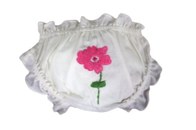Calcinha Infantil Flor Rosa
