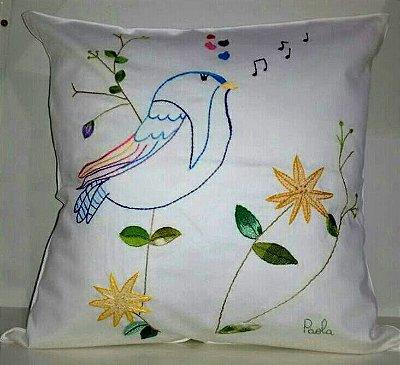 Almofada Pássaro Cantando ENCOMENDA ESPECIAL