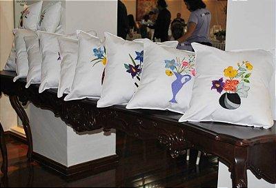 Almofada Vaso das artesãs - Algodão Egípicio