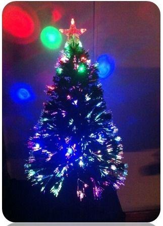 Árvore De Natal Led Fibra Óptica Estrela Enfeite Natalino 90CM