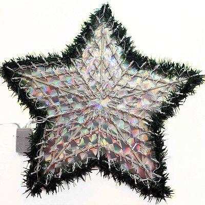 Estrela de Natal Lâmpada Colorida Pisca 8 Funções 110v