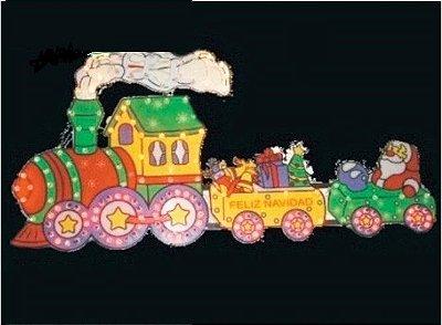 Trenzinho de Natal Com 170 Lâmpadas Coloridas Enfeite De Parede 110v