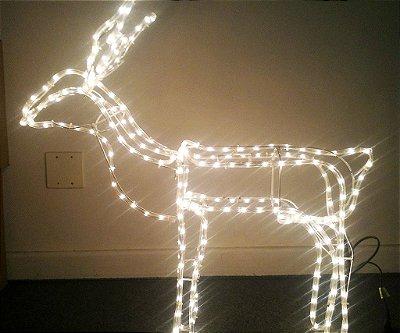 Rena de Natal Iluminada Led do Papai Noel Macho Para Ambientes Externos e Internos