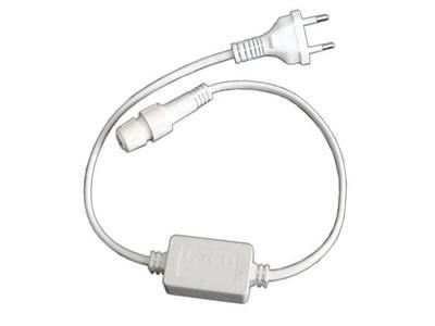 Plug Conector e Fonte de Tomada Para Mangueira Led Bivolt