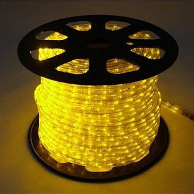 Rolo Mangueira LED Amarelo (100M) Luminosa De Alto Brilho Por Metro Para Sancas E Decorações Em Geral