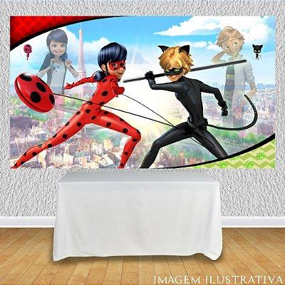 Painel de Festa Infantil Miraculous Ladybug e Adrien