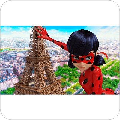 Painel de Festa Infantil Miraculous Ladybug Marinette - Paris