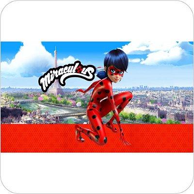 Painel de Festa Infantil Miraculous Ladybug Marinette - Cidade