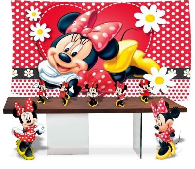 Kit Festa Minnie Mouse Vermelha