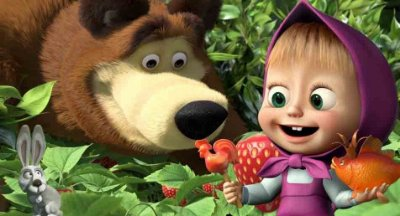Painel de festa infantil Masha e o Urso