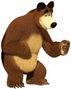 Personagem para mesa Urso - Masha e o Urso