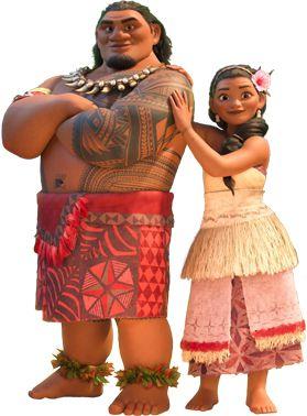Chefe Tui e Sina para decoração de festa Moana Disney