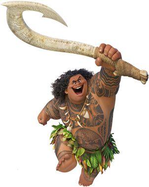 Maui para decoração de chão Moana Disney