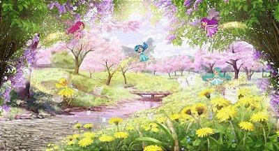 Painel de Festa 3D Reino Encantado