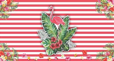 Painel para Festa Tropical Flamingo