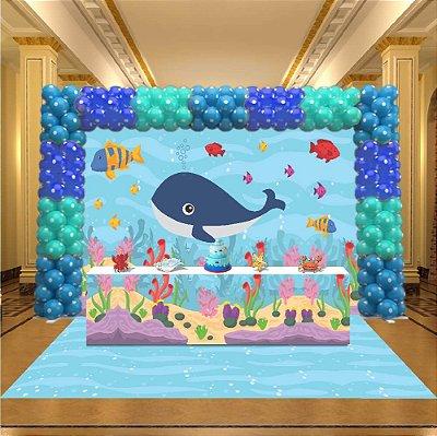 Kit Festa 3D Fundo do Mar