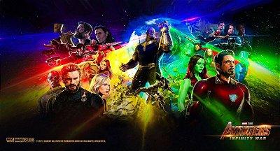 Painel Vingadores Guerra Infinita Todos os Personagens