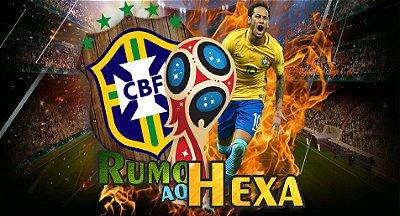 Painel Decoração Brasil Rumo ao Hexa Neymar