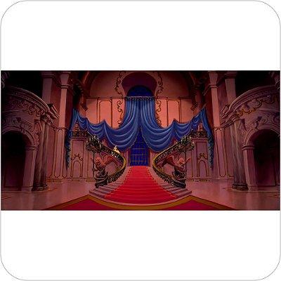 Painel de Festa Infantil A Bela e a Fera no Castelo Escuro