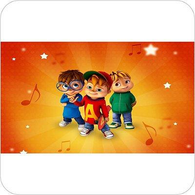 Painel de Festa Infantil Alvin e os Esquilos Nickelodeon - Musical