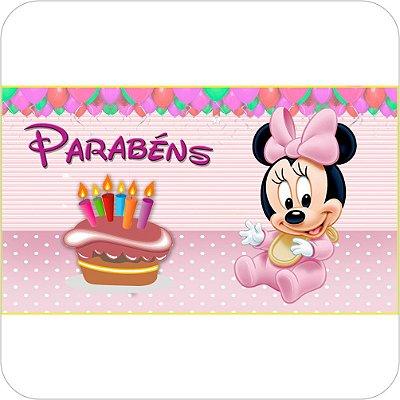 Painel de Festa Infantil Baby Disney - Aniversário Minnie