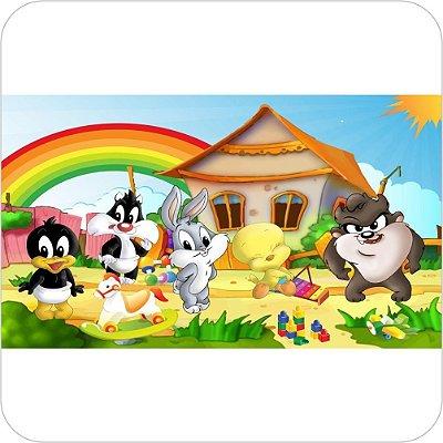 Painel de Festa Infantil Baby Looney Tunes - Arco-íris