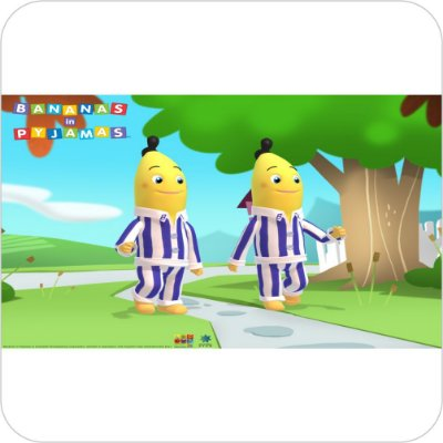 Painel de Festa Infantil Bananas de Pijamas no Caminho de Casa