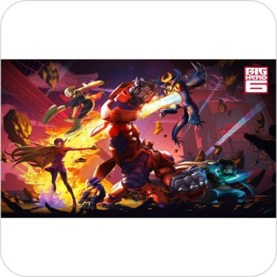 Painel de Festa Infantil Big Hero 6 Batalhando