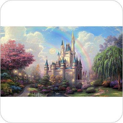 Painel de Festa Infantil Cinderela - Castelo
