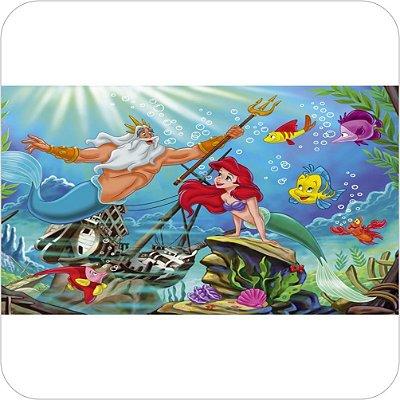 Painel Para Festa Infantil - A Pequena Sereia e Tritão