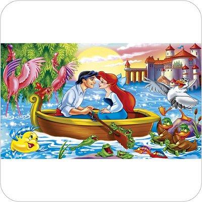 Painel Para Festa Infantil - A Pequena Sereia e Príncipe Eric