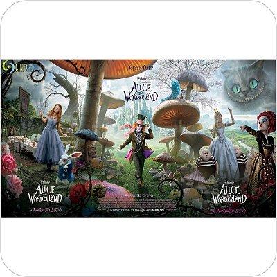 Painel de Festa Infantil Alice no País das Maravilhas - Personagens