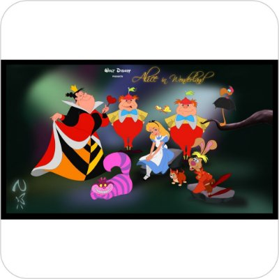 Painel de Festa Infantil Alice no País das Maravilhas - Vilões do Desenho