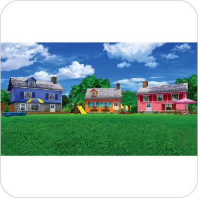 Painel de Festa Infantil Backyardigans - Casas