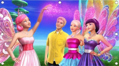 Painel para decoração de festa infantil - Barbie Segredo das Fadas