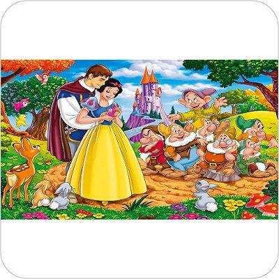 Painel de Festa Infantil Branca de Neve - Todos os Personagens