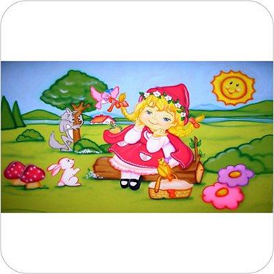 Painel de Festa Infantil Chapeuzinho Vermelho no Campo