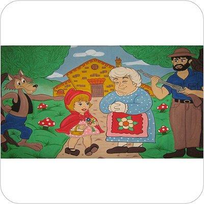 Painel de Festa Infantil Chapeuzinho Vermelho - Personagens