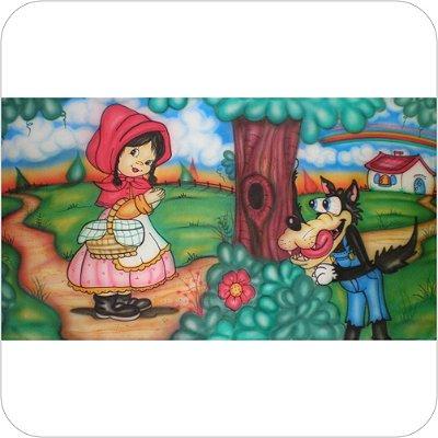 Painel de Festa Infantil Chapeuzinho Vermelho e o Lobo