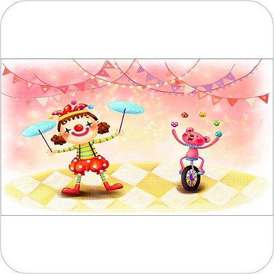 Painel de Festa Infantil Circo - Palhaços e Equilibristas