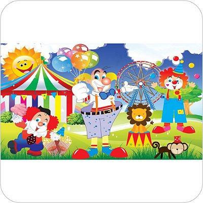 Painel de Festa Infantil Circo - Palhaços e Animais