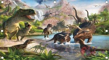 Painel de Festa em Lona Dinossauros