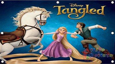 Painel para decoração de festa infantil - Enrolados - Rapunzel