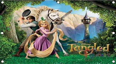 Painel para decoração de festa infantil - Enrolados - Rapunzel e Turma