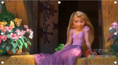 Painel de festa infantil - Enrolados - Rapunzel
