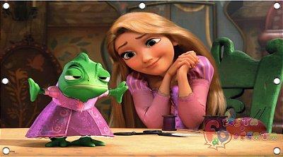 Painel para decoração de festa infantil - Enrolados - Rapunzel e Pascal